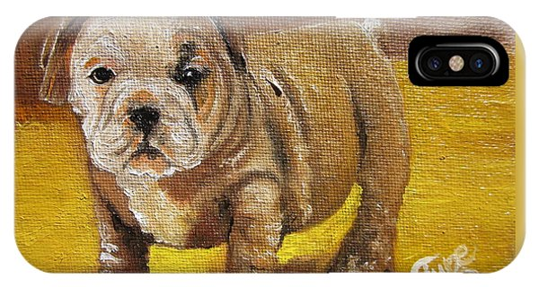 Chloe The   Flying Lamb Productions      Shortstop The English Bulldog Pup IPhone Case