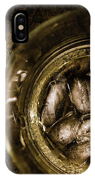 Whiskey iPhone Case - Shot Of Whisky On The Rocks by Jorgo Photography - Wall Art Gallery