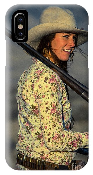 Shotgun Annie Western Art By Kaylyn Franks IPhone Case