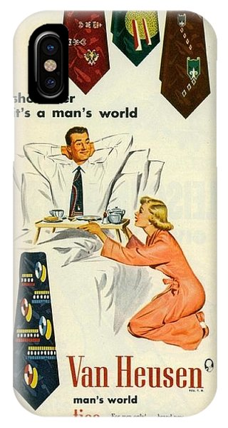 Show Her It's A Man's World IPhone Case
