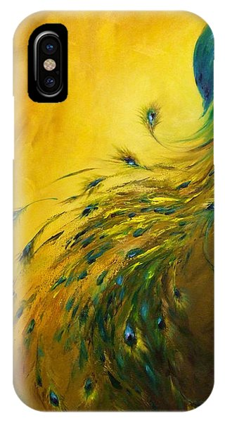 Peafowl iPhone Case - Show Off 1 Vertical Peacock by Dina Dargo