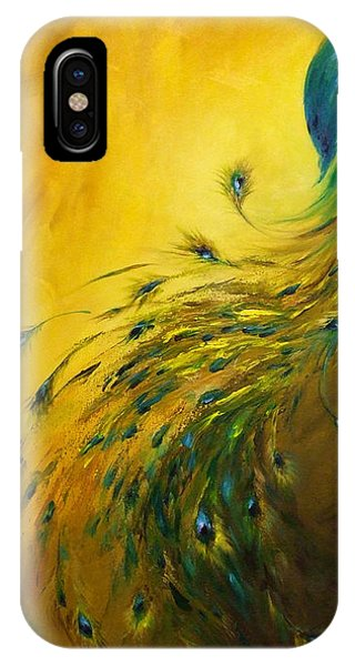 Show Off 1 Vertical Peacock IPhone Case