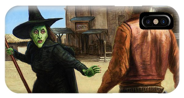 Wizard iPhone Case - Showdown by James W Johnson