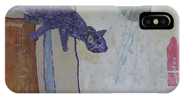 Shower Cat IPhone Case