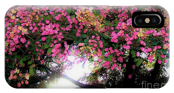 Shower Tree Flowers And Hawaii Sunset IPhone Case