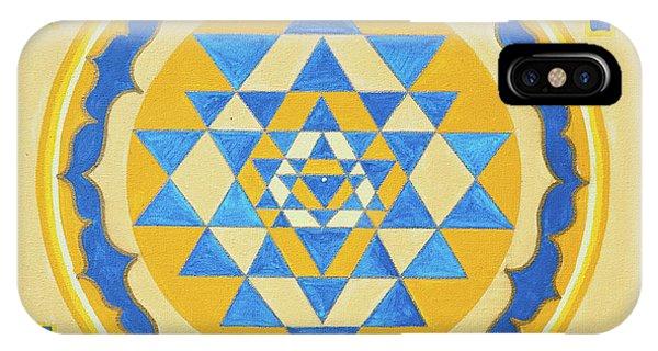 Shri Yantra For Meditation Painted IPhone Case