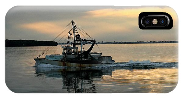 Shrimp Boat At Sunset IPhone Case