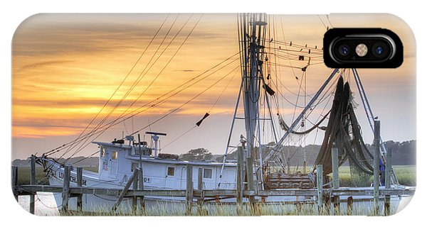 Shrimp Boat Sunset Charleston Sc IPhone Case