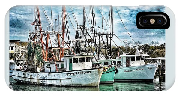 IPhone Case featuring the photograph Shrimp Boats by Donald Paczynski