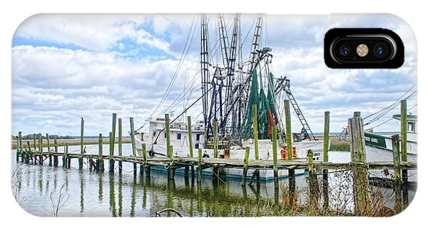 Shrimp Boats Of St. Helena Island IPhone Case