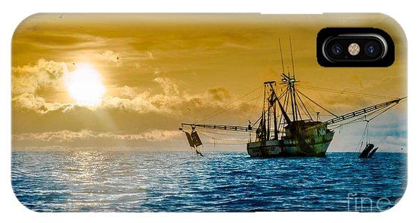 Shrimp Trawler At Dawn IPhone Case