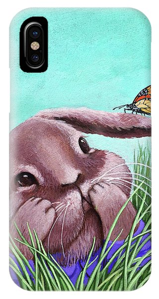 Shy Bunny - Original Painting IPhone Case