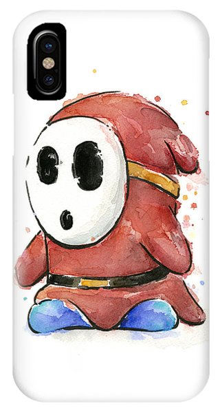 Shy Guy Watercolor IPhone Case