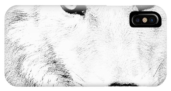 Shy Wolf IPhone Case