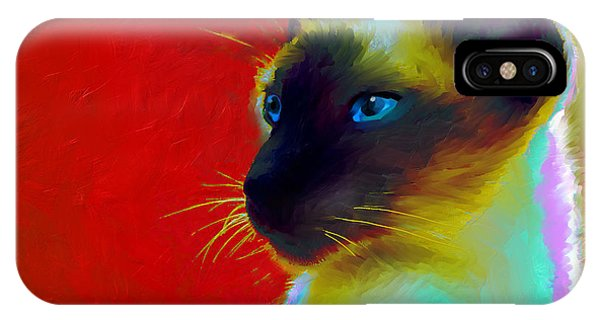 Siamese Cat 10 Painting IPhone Case