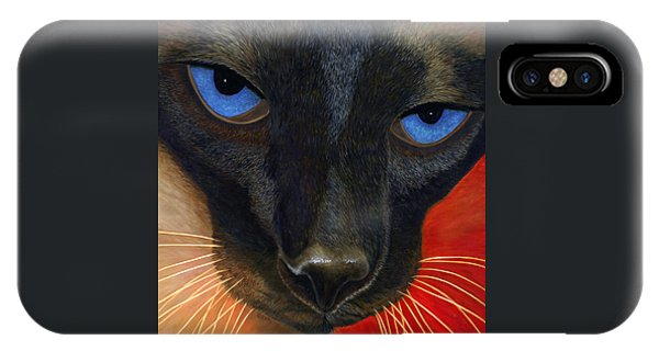 IPhone Case featuring the painting Siamese by Karen Zuk Rosenblatt