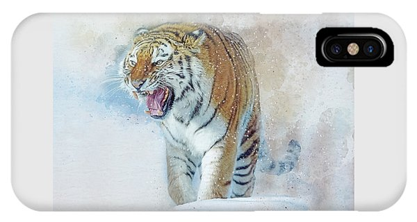 Siberian Tiger In Snow IPhone Case