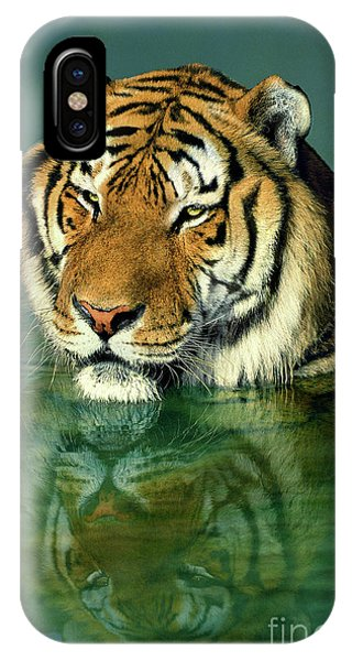 Siberian Tiger Reflection Wildlife Rescue IPhone Case