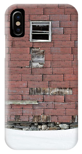 New England Barn iPhone Case - Side Of An Abandoned Old Barn by Edward Fielding