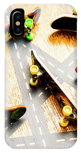 Truck iPhone X Case - Side Streets Of Skate by Jorgo Photography - Wall Art Gallery