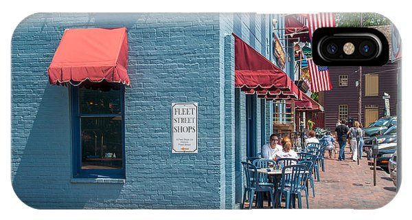 Sidewalk Cafe Annapolis IPhone Case