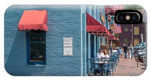 Sidewalk Cafe Annapolis IPhone Case