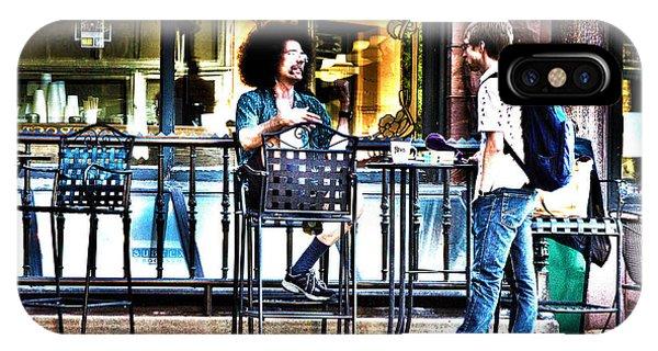Sidewalk Cafe Patrons IPhone Case
