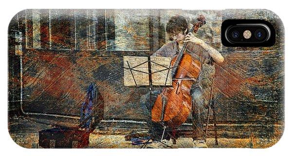 Sidewalk Cellist IPhone Case