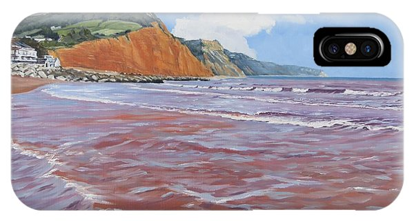 IPhone Case featuring the painting Sidmouth by Lawrence Dyer