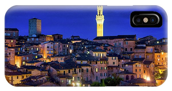 IPhone Case featuring the photograph Siena At Night by Fabrizio Troiani