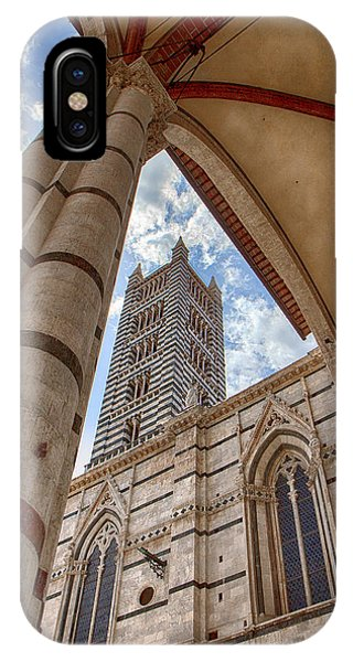 Siena Cathedral Tower Framed By Arch IPhone Case