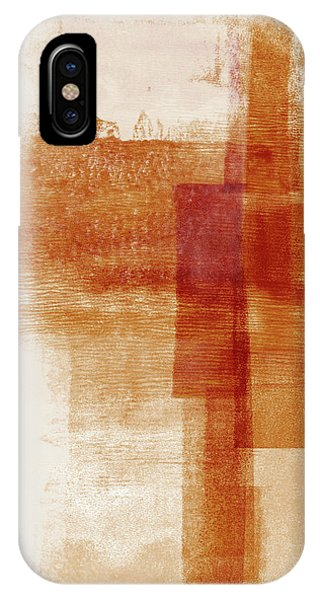 Earthy iPhone Case - Sienna 1- Abstract Art By Linda Woods by Linda Woods