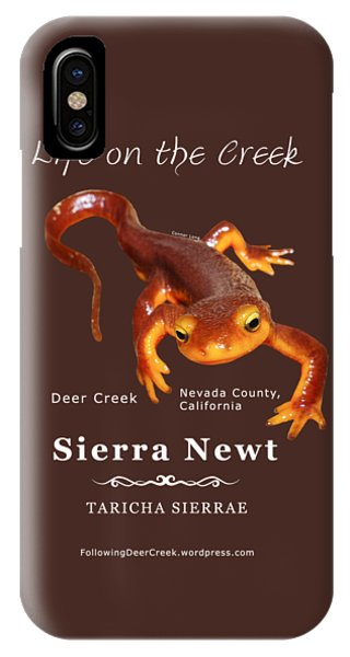 Sierra Newt - Color Newt - White Text IPhone Case