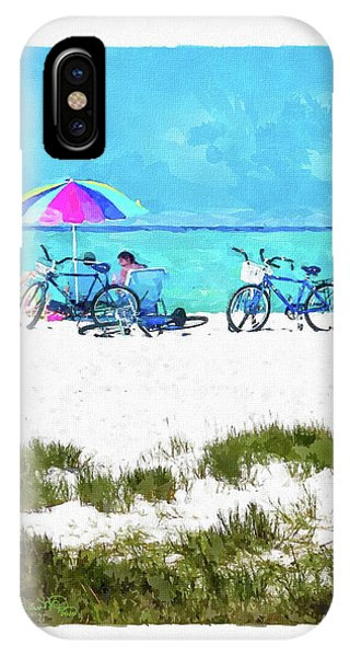 Siesta Key Beach Bikes IPhone Case
