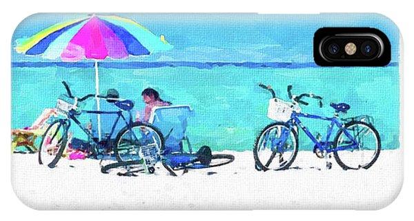 Siesta Key Beach Bikes IPhone Case