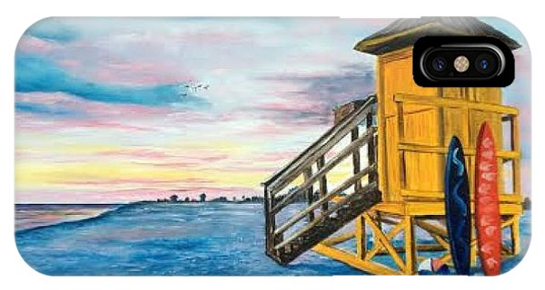 Siesta Key Life Guard Shack At Sunset IPhone Case