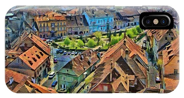 Dracula iPhone Case - Sighisoara From Above by Jeffrey Kolker
