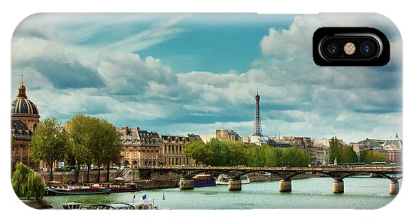 Sightseeing On The River Seine IPhone Case