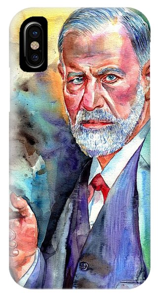Blues Legends iPhone Case - Sigmund Freud Painting by Suzann's Art