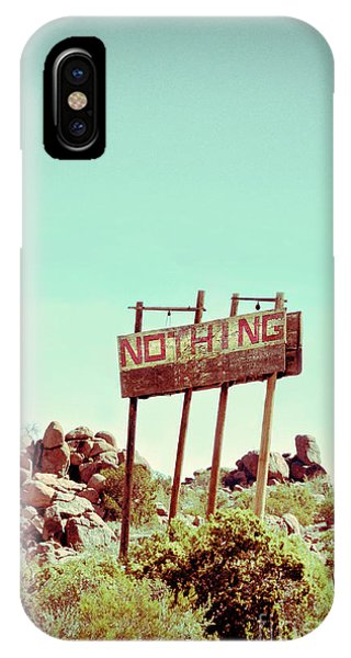 Middle Of Nowhere iPhone Case - Sign For Nothing by Jill Battaglia