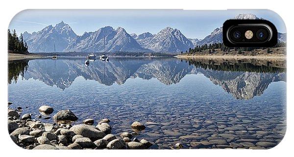 Jackson Lake  Near Signal Mountain Lodge IPhone Case