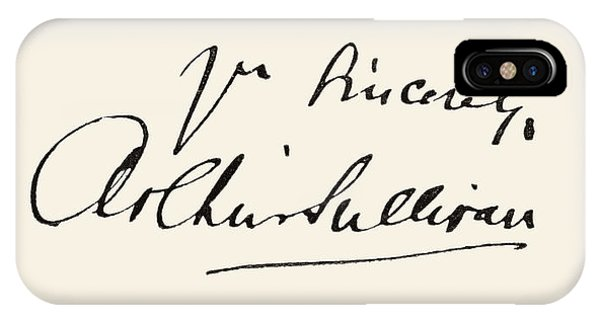 Signature Of Sir Arthur Seymour IPhone Case