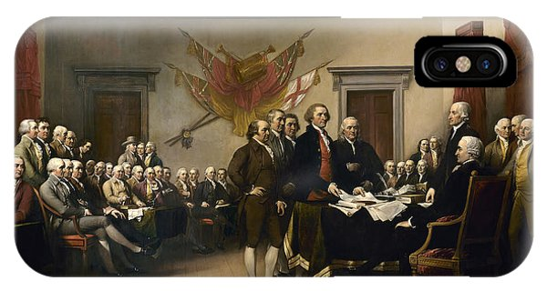 Ben iPhone Case - Signing The Declaration Of Independence by War Is Hell Store
