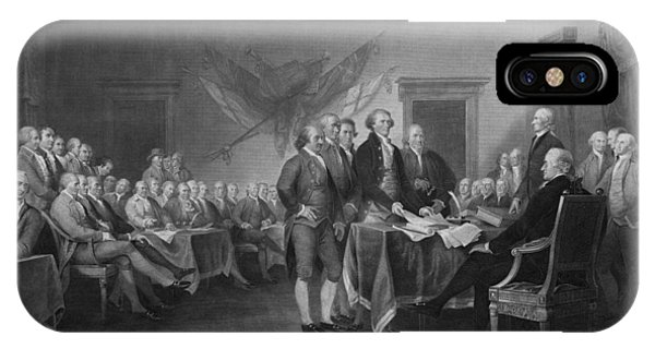 Patriot iPhone Case - Signing The Declaration Of Independence by War Is Hell Store