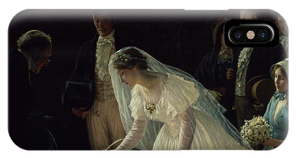 Bridal iPhone Case - Signing The Register by Edmund Blair Leighton