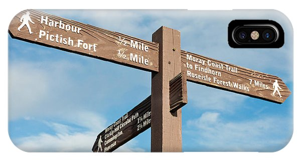 Northern Scotland iPhone Case - Signpost by Tom Gowanlock