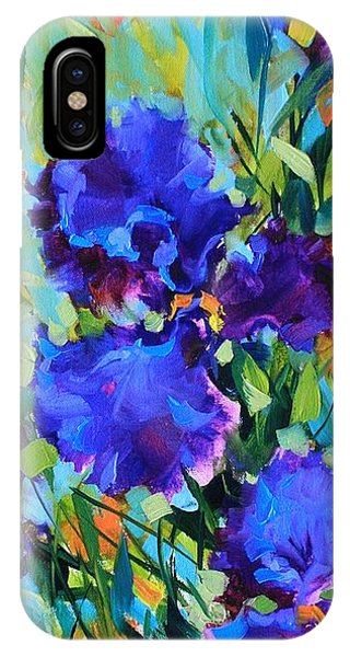 iPhone Case - Signs Of Spring Blue Iris by Nancy Medina