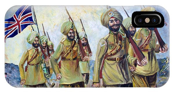 Sikh Soldiers In France Ww1 IPhone Case