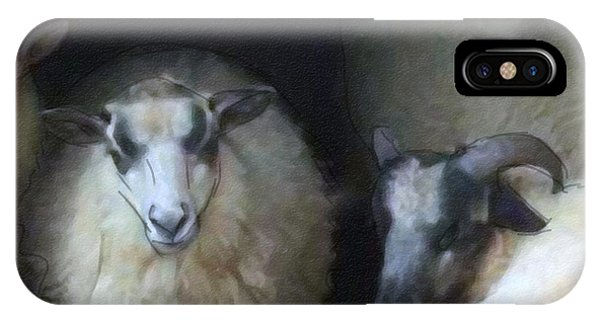 Silence Of The Sheep IPhone Case