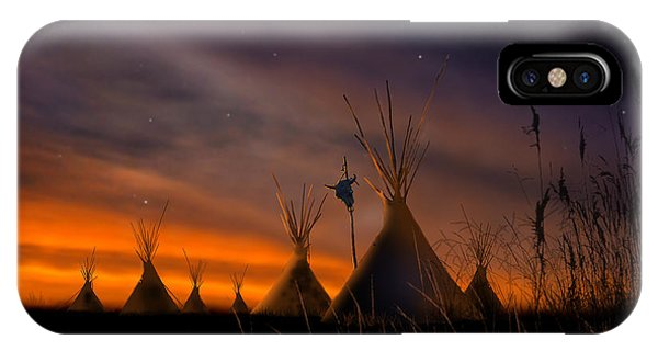 Native iPhone Case - Silent Teepees by Paul Sachtleben
